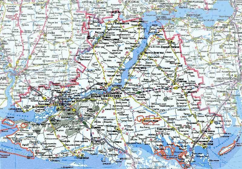 Карта Херсонской области